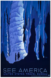 See America Travel POSTER.Home wall.Cave.Vintage Room Decor.390i $11.00