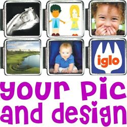 CUSTOM PHOTO ITALIAN CHARM Your Picture FREE SHIPPING $5.98