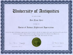 Doctor Antique Nightstand Appreciation Novelty Diploma $12.50