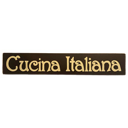 CUCINA ITALIANA Sign Plaque U Pik Color Hp Wooden Italian Kitchen Chef Decor $29.95