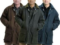 GAME British Padded Country Wax Cotton Rain Jacket  Quilted Coat