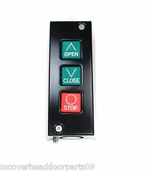 Commercial PBS 3 Control Station Garage Door Opener Three Button Wall Mount