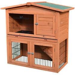 40quot;New A Frame Wood Wooden Rabbit Hutch Small Animal House Pet Cage Chicken Coop $116.99