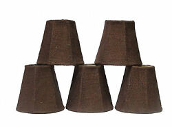 Brown Chandelier Shades Set of 5 $39.95