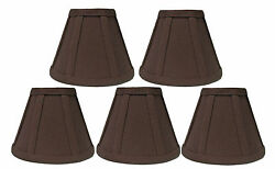Brown Linen Chandelier Shades Set of 5 $29.95