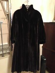 Black Diamond Natural Ranch Mink Coat & Hat & Earmuffs