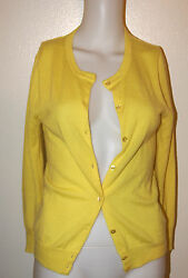 J. CREW 100% CASHMERE ITALIAN YARN SIZE SMALL CARDIGAN SWEATER TOP JACKET