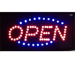 Animated Motion Running LED Business OPEN SIGN +OnOff Switch Bright Light Neon