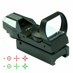 Tactical Holographic Reflex Red Green Dot Sight 4 Type Reticle for 20mm Rails $21.55