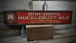 Custom Bar or Man Cave Sign - Rustic Hand Made Vintage Wooden Sign ENS1000378