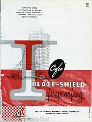 Cafco Blaze-Shield Fireproofing  Asbestos United States Mineral Wool Brochure
