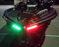 Boat Bow LED Lighting RED amp; GREEN 8quot; Strips Fully Submersible