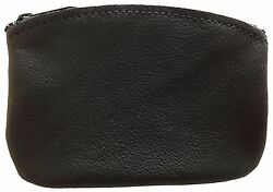 New Mens or Womens Leather Zippered Coin Pouch Purse Change Holder USA Made $11.50