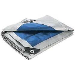 Blue Silver All Purpose Water Resistant Tarp Tarps Heavy Duty Reinforced Corner $22.25