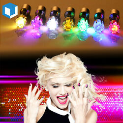 Christmas LED Light Up Cubic Battery Glowing Studs Earrings Club Party Xmas Gift