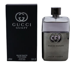 GUCCI GUILTY POUR HOMME * Cologne for Men * EDT * 3.0 oz * BRAND NEW IN BOX $49.68