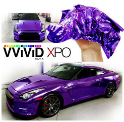 VViViD Purple supercast chrome vinyl car wrap 30M x 1.52M sheet roll film decal