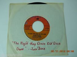 Joan Baez The Night They Drove Old Dixie Down  when Time is Stolen VRS 35138