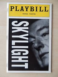 October 1996 - Royale Theatre Playbill - Skylight - Michael Gambon - Williams