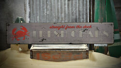 Custom Fresh Crab City State Sign -Rustic Hand Made Distressed Wooden ENS1000733