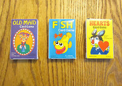 3 NEW DECKS OF KIDS CARD GAMES OLD MAID GO FISH AND HEARTS PARTY FAVORS $5.95