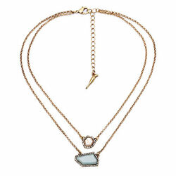 Sand Sky Isabel  crystal pave Pendant double layer necklace