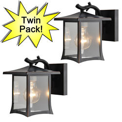 Oil Rubbed Bronze Outdoor Patio Porch Exterior Light Fixtures Twin Pack :73475