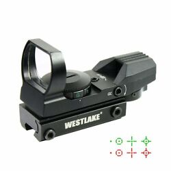 Tactical Holographic Reflex Red Green Dot Sight 4 Reticle 11mm Dovetail Mount $23.95