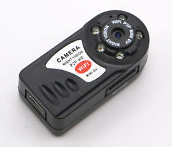 Mini Q7 WIFI P2P Surveillance Spy Remote Camera DVR iPhone Android night vision $20.99