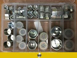 64 PC ORFS ORing Plug and Cap Hydraulic Flat Face Seal Fittings ORS  Kit 4-16 $55.99