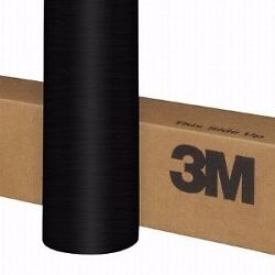 3M 1080 Brushed Black Metallic Vinyl Vehicle Decal Car Wrap Film Sheet Roll
