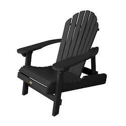 Phat Tommy Outdoor Recycled Poly Highwood Folding Hamilton Adirondack Chair