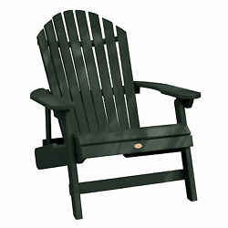 Phat Tommy Outdoor Recycled Poly Highwood Folding King Hamilton Adirondack Chair