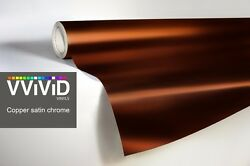 XPO Copper Satin Chrome Film Vvivid vinyl car wrap decal detail sticker mirror