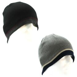 Levi#x27;s Beanie Hat for Men Reversible Colorblock Striped One Size $9.95