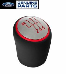 2015 2020 Mustang Shelby GT350 Genuine Ford 6 Speed Shifter Shift Knob Red Trim $75.90