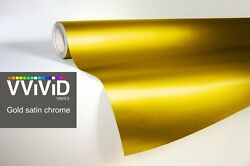 XPO Gold Satin Chrome Film Vvivid vinyl car wrap decal detail sticker mirror