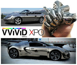 VViViD Black supercast chrome car vinyl wrap 100ft x 5ft roll air-free sheet XPO
