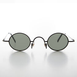 Micro Frame Vintage Sunglass Oval Black Spectacle Frame Joseph $25.00