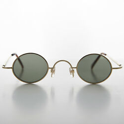 Micro Frame Vintage Sunglass Oval Gold Spectacle Frame Joseph $25.00