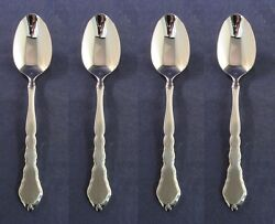 SET OF FOUR Oneida Stainless Flatware SATINIQUE Teaspoons NEW $19.99
