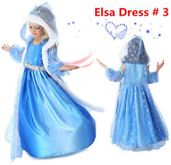 2020 Princess ELSA Let It Go Costume Dress Cosplay Party Dress up $15.98