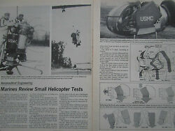 1974 2 ARTICLES 3 PAGES USMC MARINES GARRETT STAMP SMALL HELICOPTER TEST TSE231 EUR 10.00