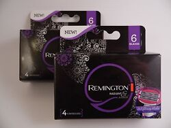 New Remington Women#x27;s Radiant and Smooth Women Six Blade Refills 4 Count $7.99