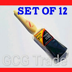 12 of 1.5 Inch Paint Brushes Economy Polyester Linzer All Tips of Paints 1.5quot; $15.55