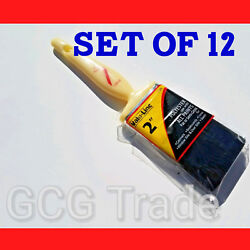 12 of 2 Inch Paint Brushes Economy Polyester Linzer All Tips of Paints Size 2quot; $17.55