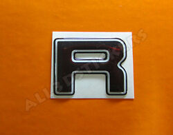 3D Stickers Resin Domed LETTER R - Color Black - 25 mm(1 inch) Adhesive Decal $3.99