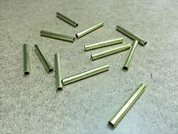 12 Pcs Brass Tubing 1.25quot; Long 5 32quot; OD 1 8quot; ID 1 64quot; Wall For Player Piano $6.95