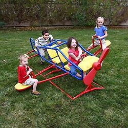 Kids 7 Person Teeter Totter Play Ace Flyer Backyard See Saw Playground Equipment