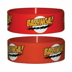 BIG BANG THEORY BAZINGA RED RUBBER WRISTBAND TOP QUALITY 100% OFFICIAL NEW